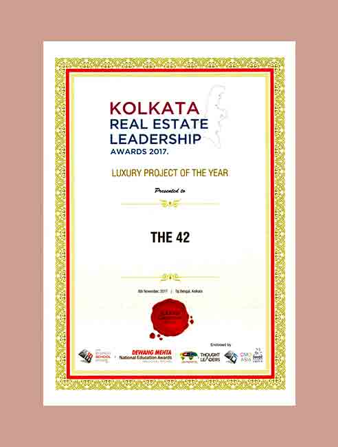 THE 42 - Real Estate Leadership Award for Luxury Project of the Year