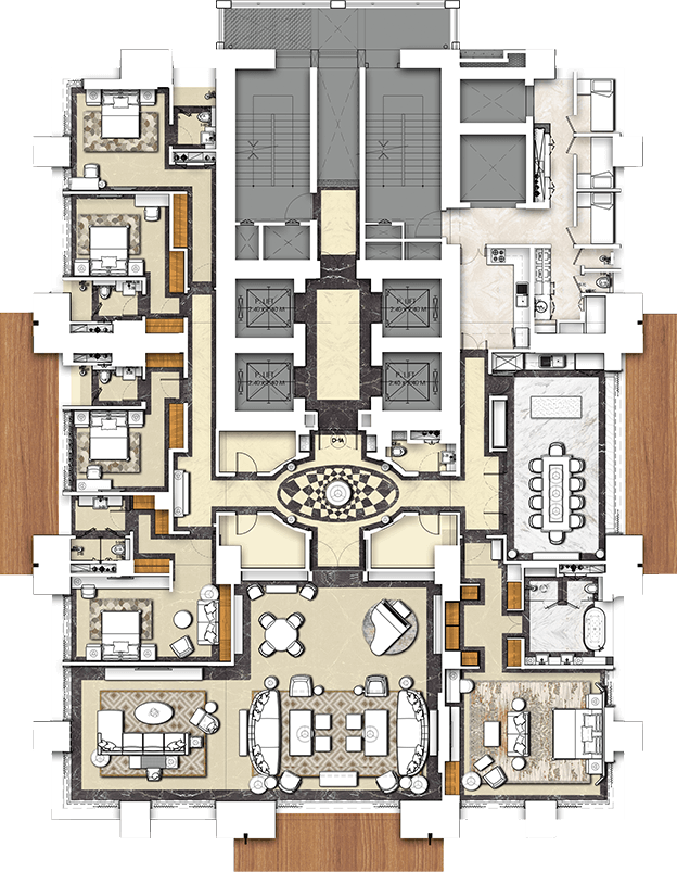 Five Bedroom Residence Plan of THE 42