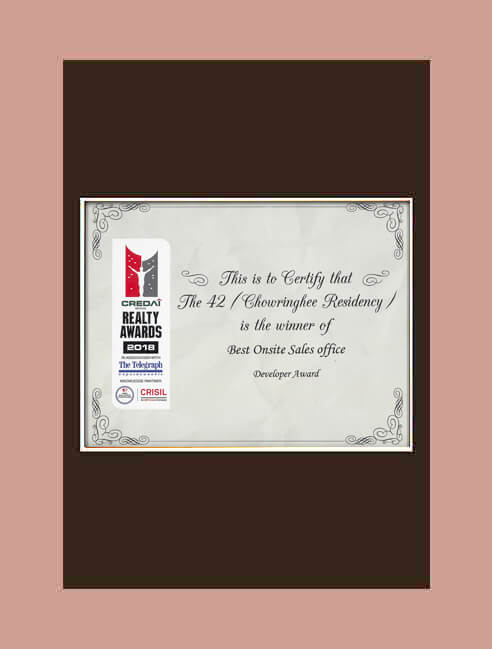 THE 42 Chowringhee - Best Onsite Sales Office Developer Award
